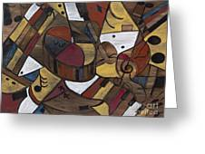 Musicality In Brown Greeting Card