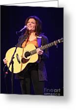 Musician Rosanne Cash Greeting Card