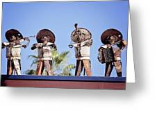 Musicians At The Hotel California Todos Santos Mx Greeting Card