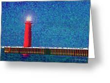 Muskegon Lighthouse Greeting Card