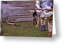 Musket Fire - 1 Greeting Card