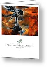 Muskoka Autumn Sunset Northern Ontario Poster Series Greeting Card