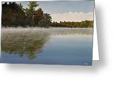 Muskoka Morning Mist Greeting Card