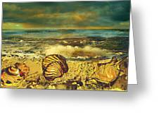 Mussels On The Beach Greeting Card