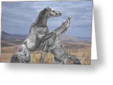Mustang Battle Greeting Card