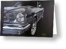 Mustang Front Greeting Card