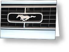 Mustang Logo Greeting Card