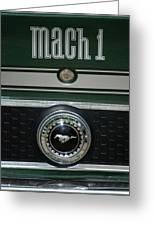 Mustang Mach 1 Emblem Greeting Card