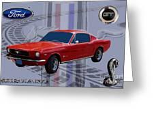 Mustang Poster Greeting Card