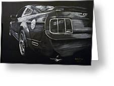 Mustang Rear Greeting Card