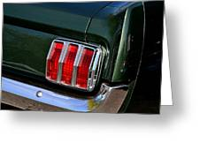 Mustang Tail Light Greeting Card