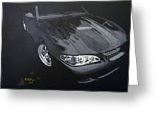 Mustang With Flames Greeting Card