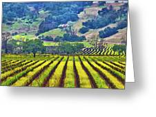 Mustard In The Vineyard Greeting Card