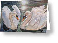 Mute Swans - River Severn Greeting Card