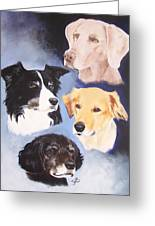 Mutt Hut Dogs Greeting Card