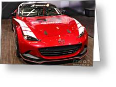 Mx5 Race Car Greeting Card