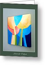 My Abstract Tulip Greeting Card by Carola Ann-Margret Forsberg