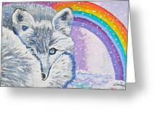 My Artic Fox Greeting Card