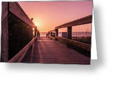 My Atlantic Dream -the Boardwalk  Greeting Card