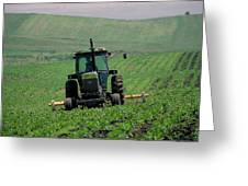 My Big Green Tractor Greeting Card
