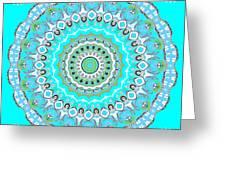 My Blue Heaven Mandala Greeting Card