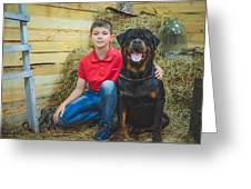 My Brother And The Dog 2 Greeting Card
