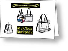 My Clear Backpack Greeting Card