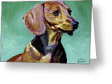 My Daschund Greeting Card