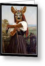 My Deer Shepherdess Greeting Card