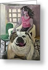 My Dog, My Friend Greeting Card by Mimi Eskenazi