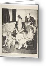 My Family, Second Stone George Bellows  Greeting Card