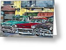 My Fathers' Cars Greeting Card