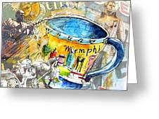 My First Memphis Mug Greeting Card