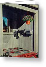 My Front Porch Greeting Card by Ron Sylvia