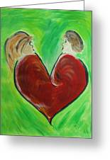 My Funny Valentine Greeting Card by Donna Blackhall