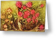 My Garden Of Roses Greeting Card by Fatima Stamato