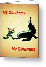My Goodness My Guinness 1 Greeting Card