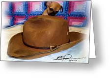 My Hat Greeting Card