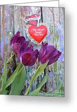 My Heart Sings For You Greeting Card