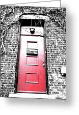My Little Red Door Greeting Card