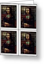 My Mona Lisa Weave  4 Greeting Card