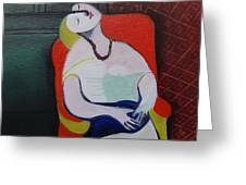 My Picasso, Le Reve 'print' Greeting Card