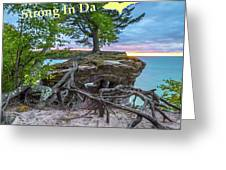 My Roots Are Strong Chapel Rock -6121 Pictured Rocks Michuigan Greeting Card
