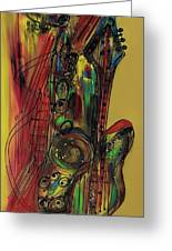My Sax My Way Greeting Card