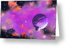 My Space Greeting Card by Methune Hively