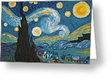 My Starry Nite Greeting Card