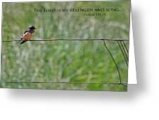 My Strength Greeting Card by Bonnie Bruno