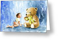 My Teddy And Me 03 Greeting Card