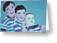 My Three Sons Greeting Card