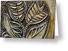 Vintaje Tile With Calas  Greeting Card